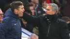 Phil Parkinson and Jose Mourinho at the end of the FA Cup tie