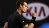 Andy Murray in action at the Australian Open