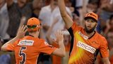 Andrew Tye takes a catch to help Perth Scorchers towards victory