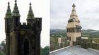 Damaged pinnacle and repairs