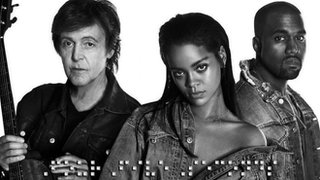 BBC - Newsbeat - Rihanna, Kanye West and Paul McCartney in new collaboration