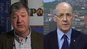 Alistair Carmichael and John Swinney