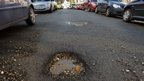 Pothole in London street