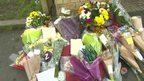 Floral tributes at scene of attack