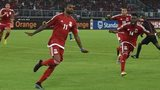 Javier Balboa (left) celebrates scoring the first goal for Equatorial Guinea