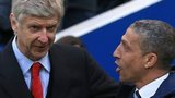Arsenal manager Arsene Wenger (left) and Brighton manger Chris Hughton
