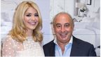 Holly Willoughby (L) with Sir Philip Green