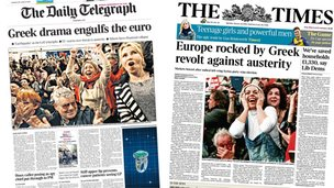 Telegraph/Times front pages