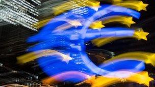 Euro sign in Frankfurt, Germany