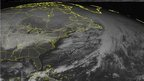 This NOAA satellite image taken Sunday, Jan. 25, 2015 at 12:45 PM EST shows mostly clear skies dominating the southeastern United States as a surface ridge is intruding into the area thus stabilizing atmospheric conditions. A large clipper system can be seen over the middle Mississippi River Valley with an area of mixed rain and snow showers. This system is expected to heavily impact New England tomorrow evening through Tuesday with a large amount of snowfall. The National Weather Service has issued a Critical Weather Day that is in effect until Thursday evening