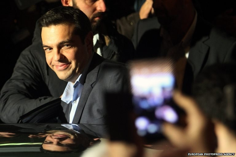 Alexis Tsipras, leader of the Syriza party and Greece's new Prime Minister