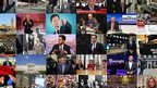 Composite images of politicians, historic election moments and BBC broadcasters