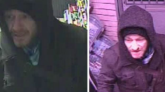 Armed robbery cctv pics