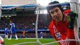 Chelsea goalkeeper Petr Cech was beaten four times at Stamford Bridge against Bradford