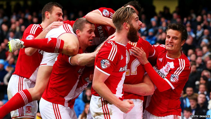 Middlesbrough celebrate