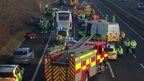 Emergency services at the M4 crash