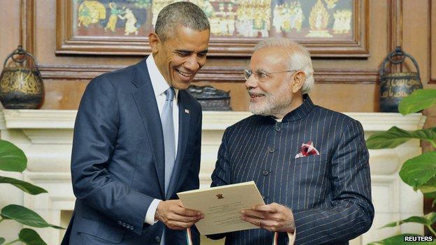President Barack Obama and Prime Minister Narendra Modi