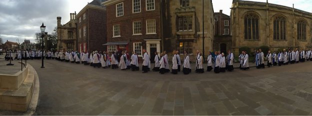 York Minster clergy