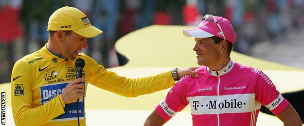 Lance Armstrong and Jan Ullrich