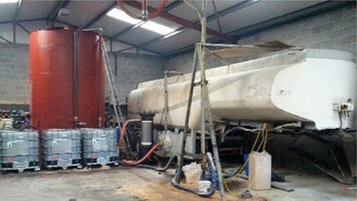 Fuel laundering plant