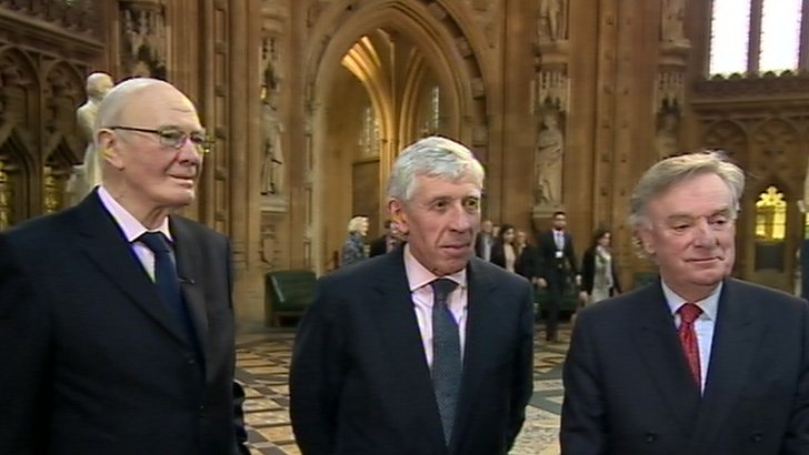 Sir Menzies Campbell, Jack Straw and Richard Ottoway
