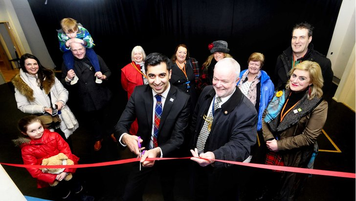 Humza Yousaf and Ted Thompson open theatre space