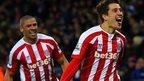 Bojan Krkic and Jonathan Walters of Stoke