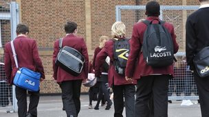 Pupils walking to school