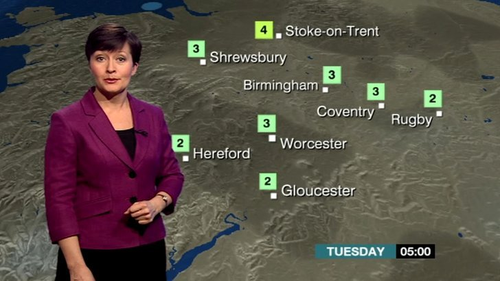 Sara Blizzard with the overnight forecast for the Midlands