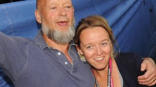 Michael Eavis and daughter Emily at Glastonbury Festival in 2009