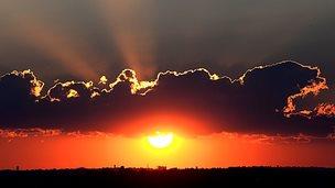 Sunset over Johannesburg