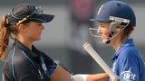New Zealand's Suzie Bates and England's Charlotte Edwards