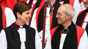 Bishop Libby Lane and Archbishop Justin Welby