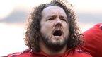Adam Jones in action for Wales