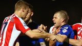 Stoke argue with Rochdale