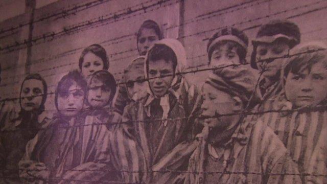 Child survivors of Auschwitz concentration camp