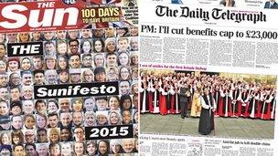 Sun/Telegraph front pages