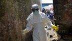 Ebola worker in Monrovia, file pic