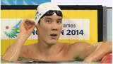 In a file photo taken on 26 September 2014 South Korea's Park Tae-hwan looks down the pool at the end of the fast heat (final 2) of the men's 1500m freestyle swimming event during the 17th Asian Games at the Munhak Park Tae-hwan Aquatics Centre in Incheon.