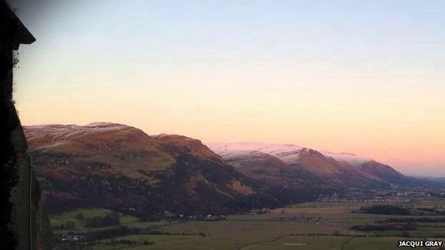 Ochil hills from Wallace monument