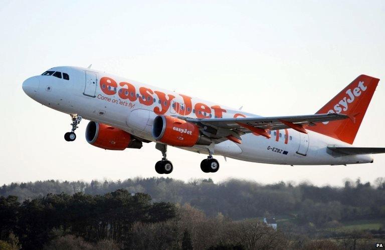 An easyJet plane,