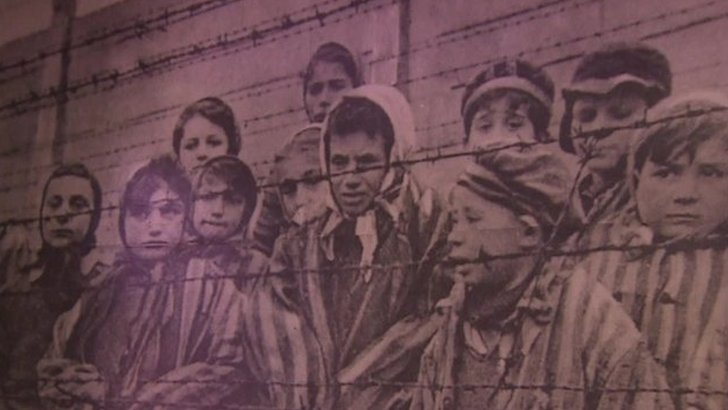 Child survivors of Auschwitz concentration camp
