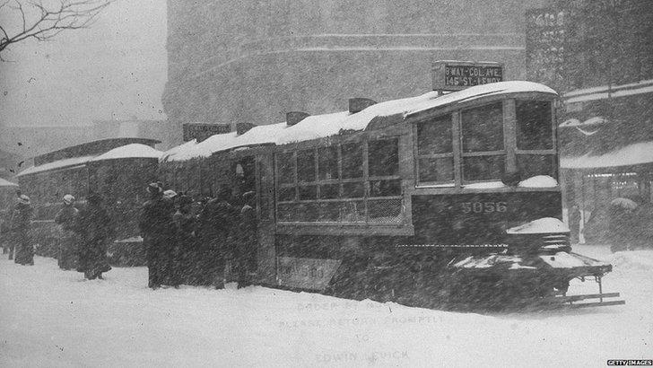New York snow drift