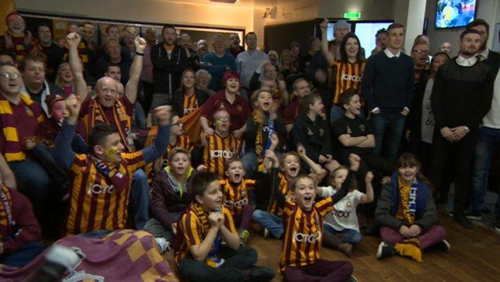 City fans celebrate draw