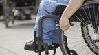 Wheelchair close up