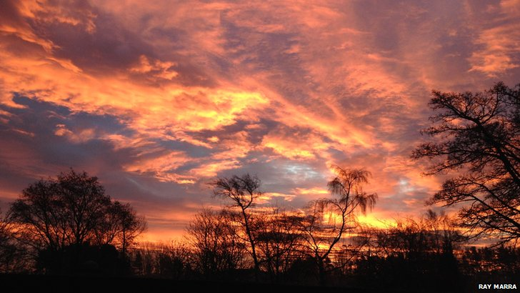 Sunrise over Caird Park Dundee