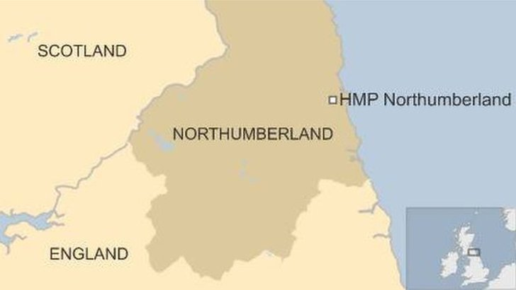 Map of Northumberland