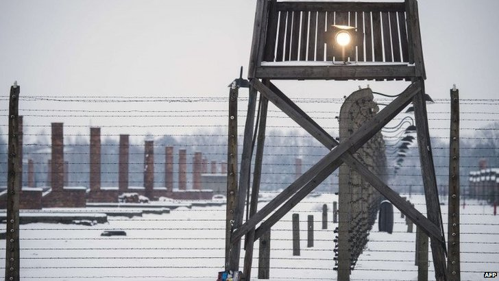 Watch tower at Auschwitz