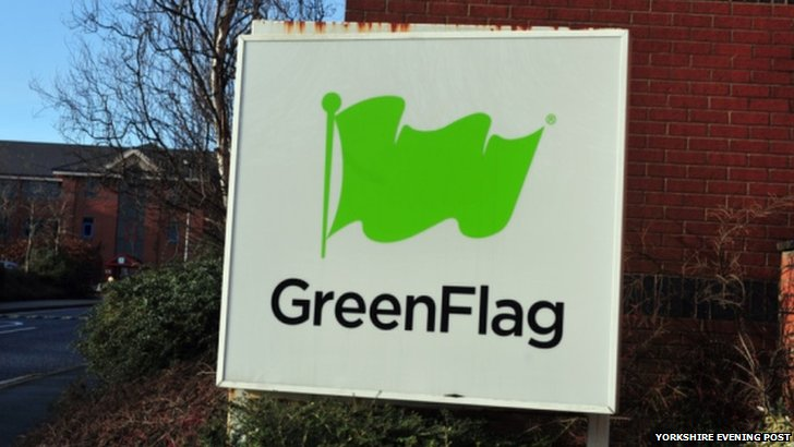 Green Flag sign