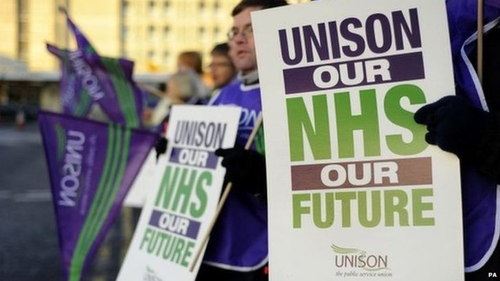 Unison sign about the NHS